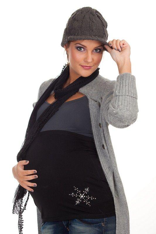 Bandeau de grossesse SWAROVSKI Chrystal NOIR