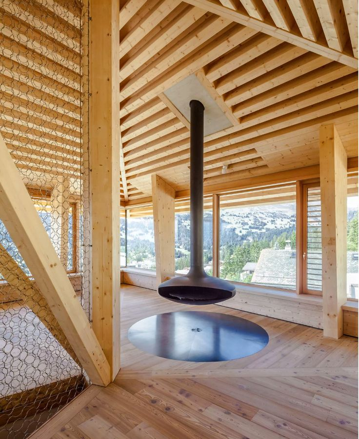 Modern #cabin via Alpine Modern on #Ello  #wood #design #modern #minimalist #interior