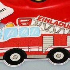 Feuerwehr-Geburtstag zum gratis Ausdruck