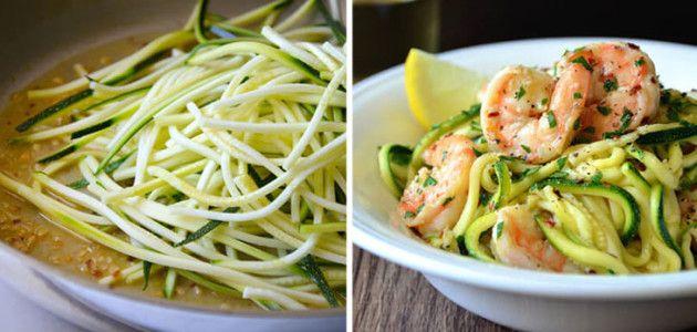recetas_ligeras_y_rapidas_para_cenar_espaguetis_de_calabacin_con_gambas