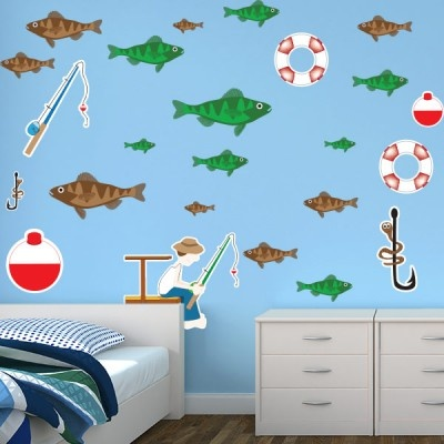 Boys Bedroom Stickers   Fishing Wall Decor Restickables #BedroomDesign  #WallGraphics #KidsRoom #customized Part 90