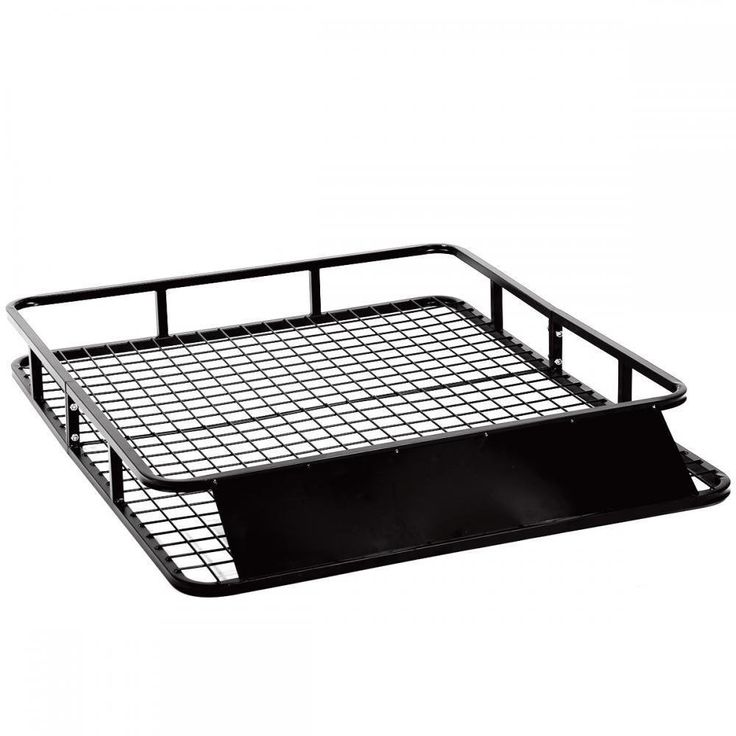 """Mr Direct 48"""" Universal Black Roof Rack Cargo with Extension Car Top Luggage Holder Carrier Basket SUV. Universal Roof Cargo Rack /Car Top Luggage Holder. Material: High Grade Steel, Black Powder coated finish. Overall dimensions: 48""""(L) x 40""""(W) x 6'(H). Maximum load for basket: 250lbs. Wind fairing: 33"""" x 7""""/84 x 18 cm, U-Bolt spacing: 2.75"""" wide x 1.375."""
