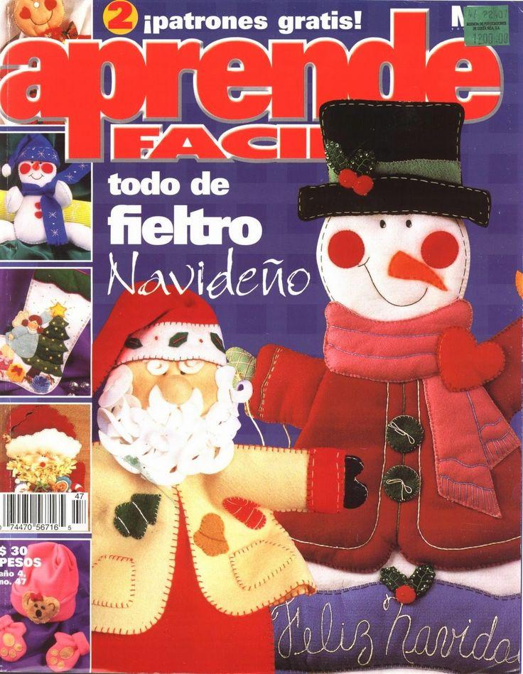 Revistas de Fieltro gratis: muñecos navideños en fieltro