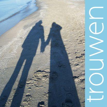 trouwkaart strand foto - Trouwkaarten - Kaartje2go