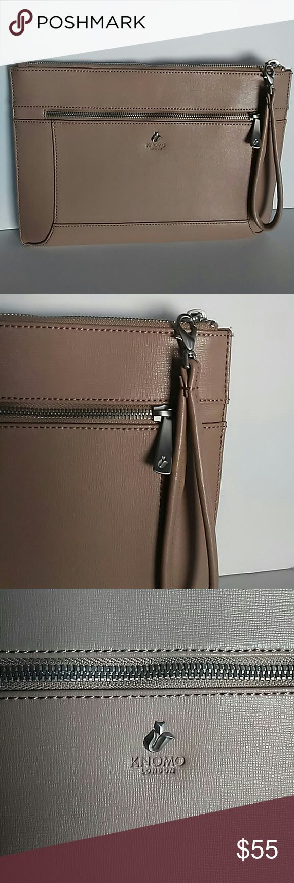New Knomo London Harley iPad Tablet Leather Clutch Knomo London Harley iPad Air Tablet Leather Clutch Handbag Pouch Case Ivory. Material: Leather. Can hold ipad/tablets up to 10 inch. Kinomo London Bags Laptop Bags