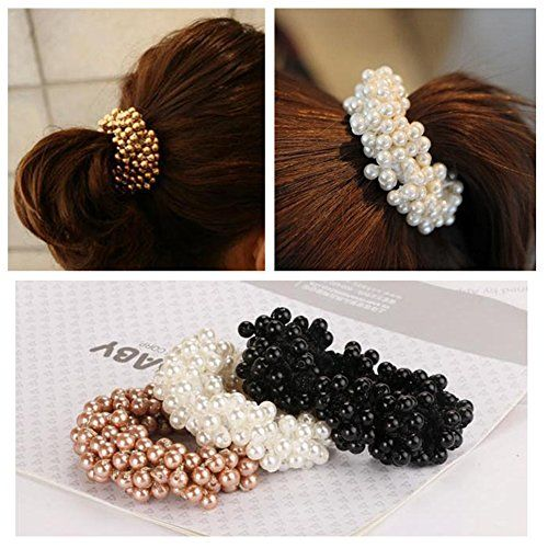 Casualfashion 3Pcs Fashion Korean Hair Accessories Beaded Elastic Hair Ties for Women Girls Pearls Hair Bands Rope * For more information, visit image link.(This is an Amazon affiliate link and I receive a commission for the sales)