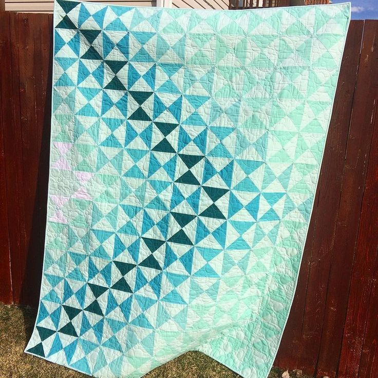 Dimensions Quilt Pattern in Aqua
