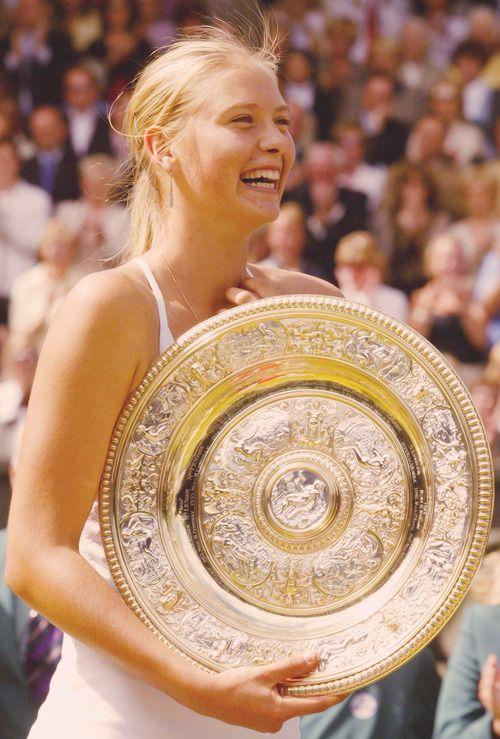Maria Sharapova - 2004 Wimbledon Champion at the age of 17.