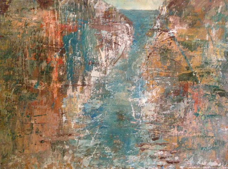 'Cliff Tops' Ali Conway Acrylic on Canvas