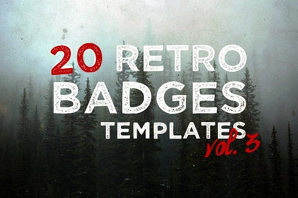 [vol. 3] 20 Retro Badges Templates by Roman Paslavskiy on @creativemarket