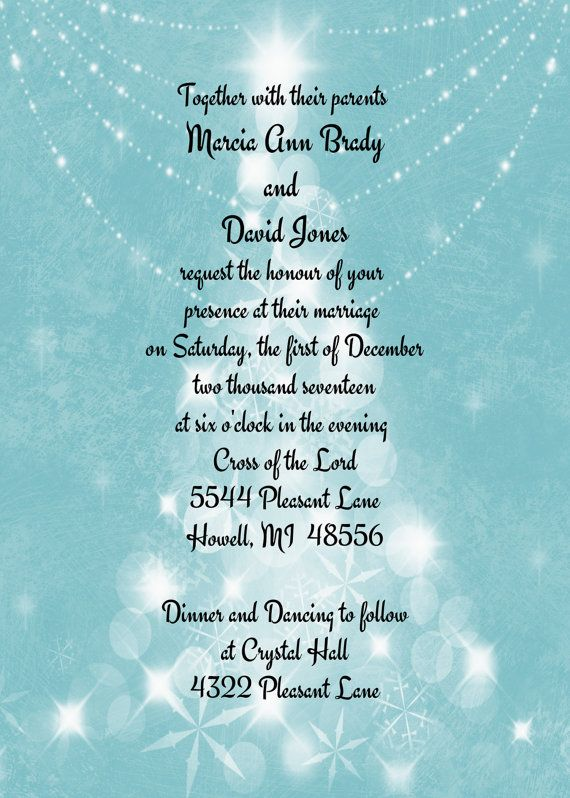 Winter Wonderland Wedding Invitationsparkles And By OldOwlPress, $15.00. Einladungskarten  HochzeitSchneeflocken EinladungenHochzeitseinladungenWinter ...