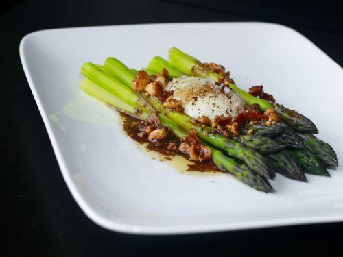 Asparagus, Asparagus with bacon and Vinaigrette on Pinterest