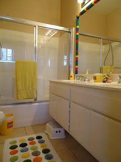 CUTE LEGO bathroom!!! If only the boys had their own bathroom!