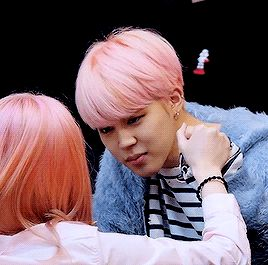 They way he holds her handJUST BTS JIMIN