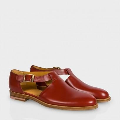Paul Smith Women's Rust Calf Leather 'Storr' Shoes