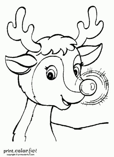 rudolph the red nosed reindeer printable worksheets | Rudolph the red-nosed reindeer | Print. Color. Fun! Free printables ...