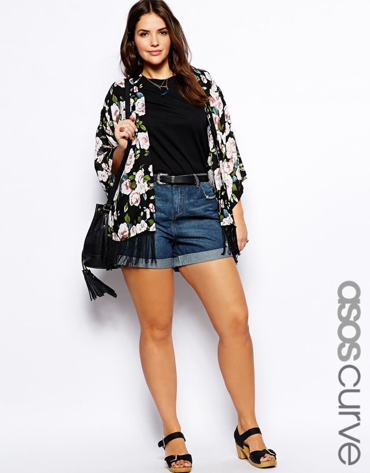 Image 1 of ASOS CURVE Denim Short In Indigo
