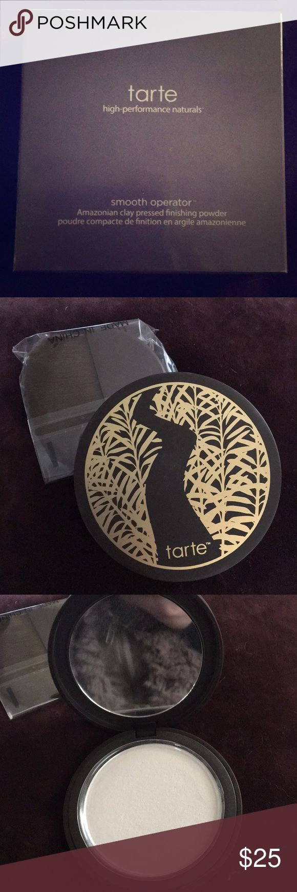 Tarte Smooth Operator Pressed finishing powder NIB. Amazonian clay presses finishing powder. Amazing product for setting makeup. Tarte Makeup Face Powder