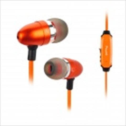 Power4 EP001 In-Ear Earphone w/ Microphone / Visible EL Flowing Light - Orange #earphone