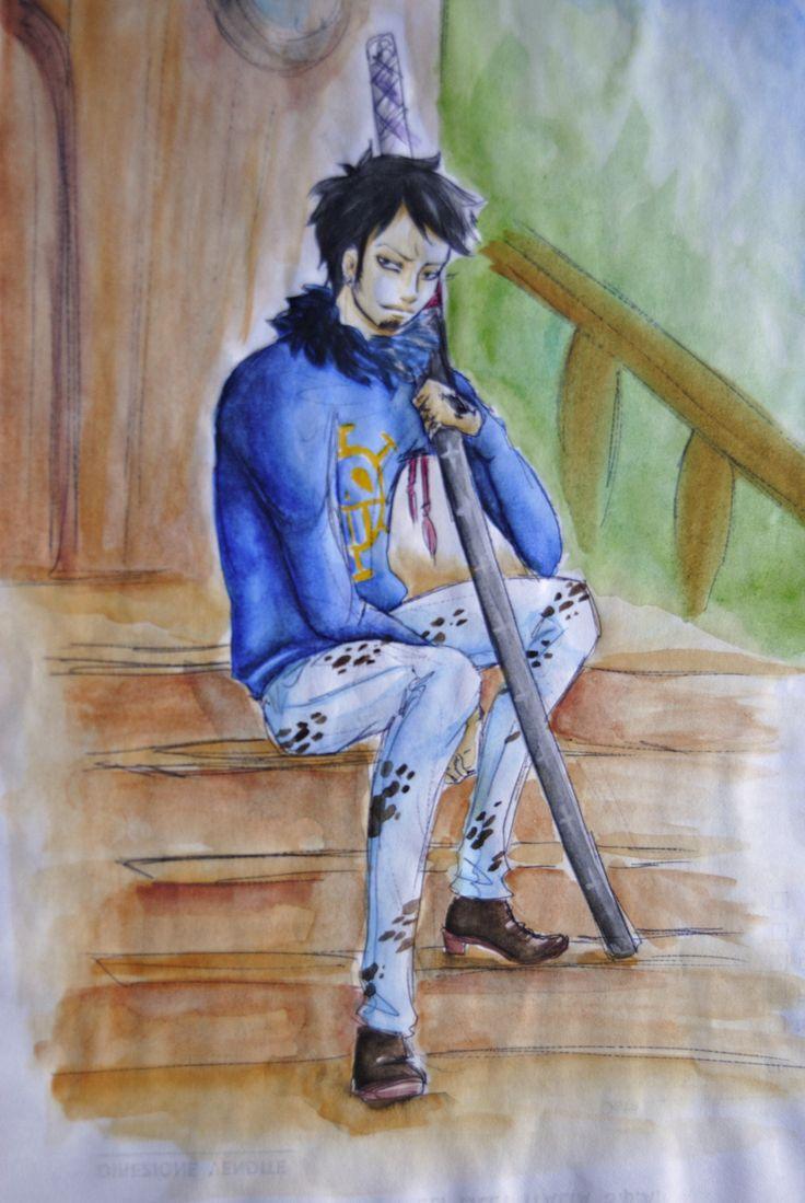 My Art // One Piece - Trafalgar D. Water Law ( Watercolor )