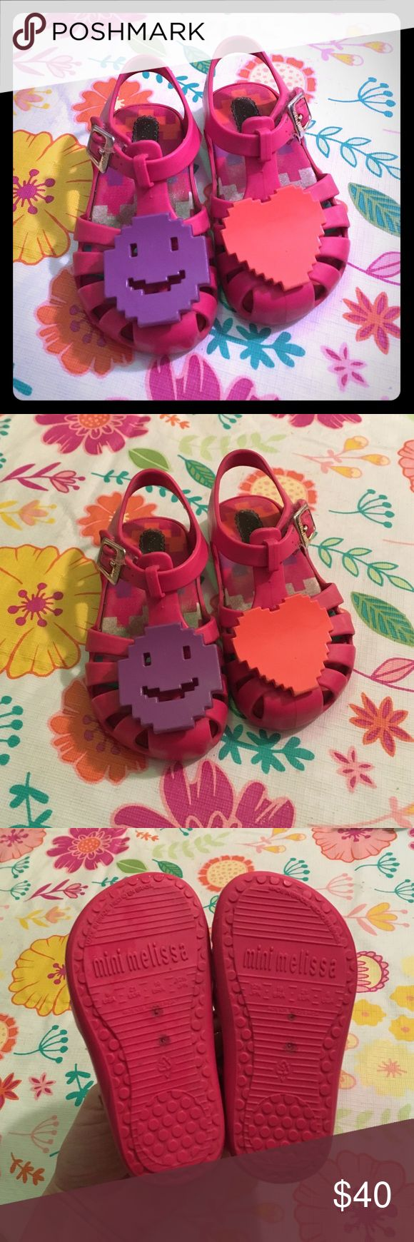 Mini Melissa Hot Pink Sandals My daughter grew out of them and they definitely won't fit next season! Mini Melissa Shoes Sandals & Flip Flops