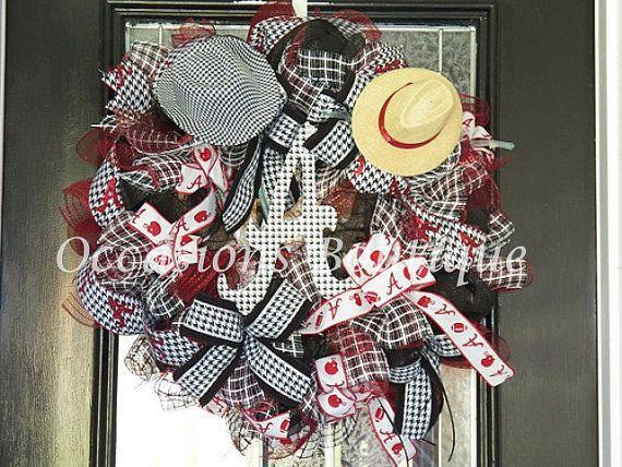 XL Alabama Football Wreath Alabama Door by OccasionsBoutique