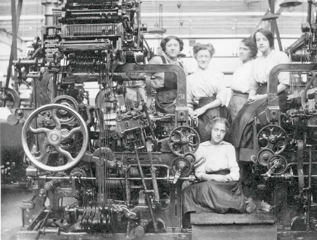 Women and young girl at Armley Mills