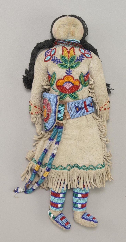 Crow - Female doll with beaded buckskin dress