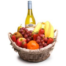 "Fruit and Wine hamper, not just for ""Get Well Soon"" occasions! You can also gift them as a house warming party gift!"