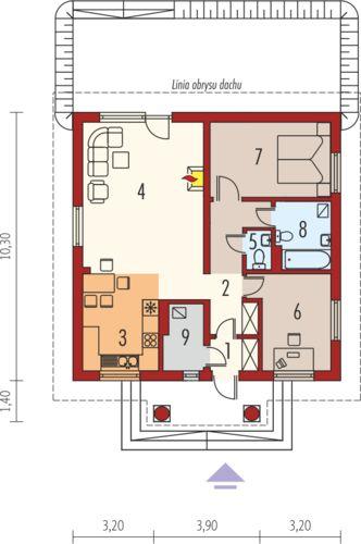 Case cu parter si doua dormitoare Two bedroom house plans 6