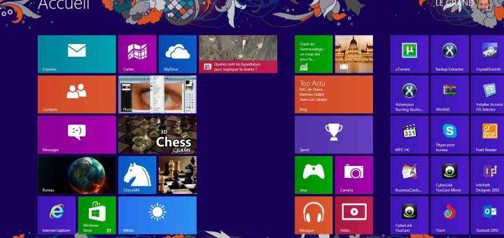 Personnaliser l'écran d'accueil de Windows 8  L'écran d'accueil de Windows à la particularité d'être très attrayant et très déroutant à la fois. Il possède un système de tuiles entièrement personnalisable. pour commencer dans l'écran de démarrage, positionnez le curseur au coin droit et en bas pour faire apparaître le menu suivant :