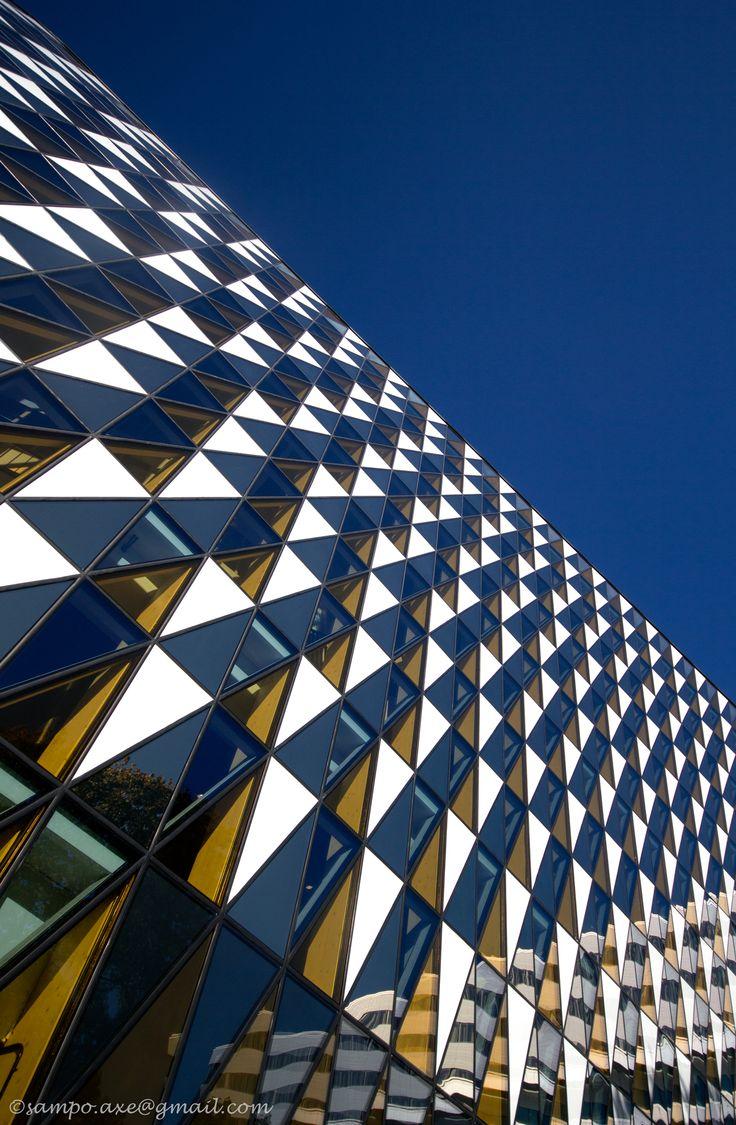 Aula Medica, Karolinska Institutet, Solna, Sweden. Photo: Sampo Axelsson.  #stockholm #sweden #architecture #buildings #photography #sampo