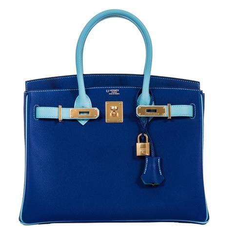 074e34a0e03b Hermes Birkin 30 HSS Blue Electric And Blue Atoll Epsom Gold Hardware