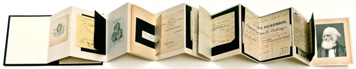 "Janet Jones - ""Please Remit"" accordian book"