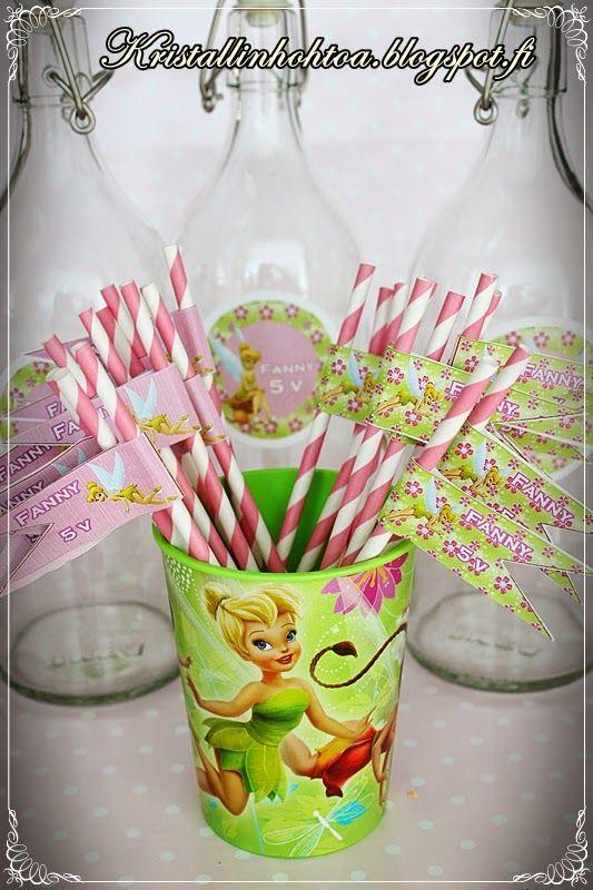 Helinä-keiju synttärit / Tinker Bell birthday Lasten synttärit koristeluideoita