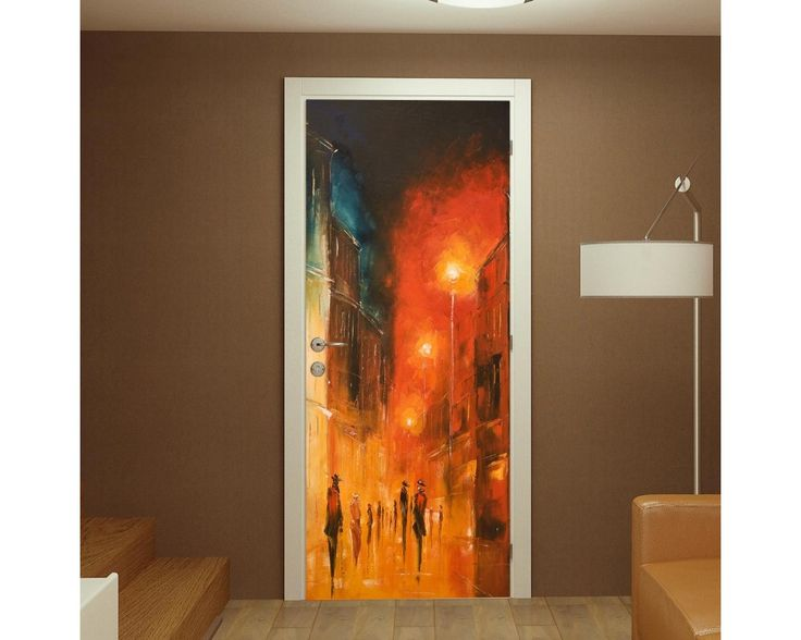 Illuminated street, αυτοκόλλητο πόρτας , δείτε το!