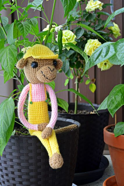 Crochetted little gardener.
