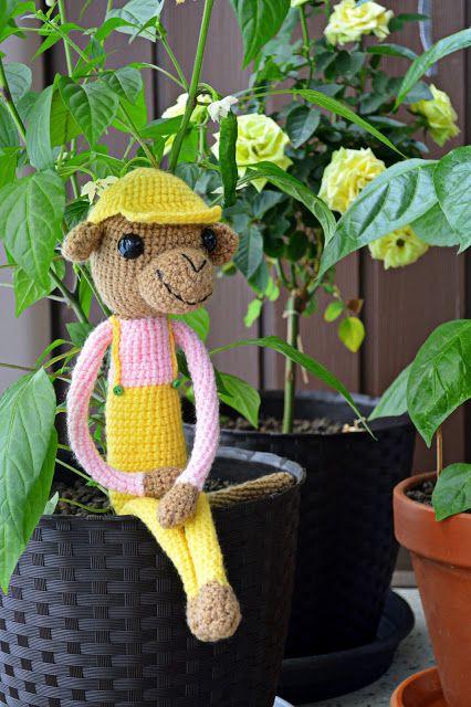 Crochetted little gardener.