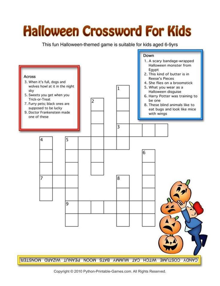 Printable Halloween Crossword Puzzles Word Searches | Wallsviews.co