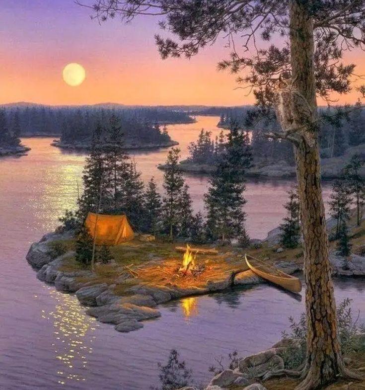 Картинка доброго вечера с природой
