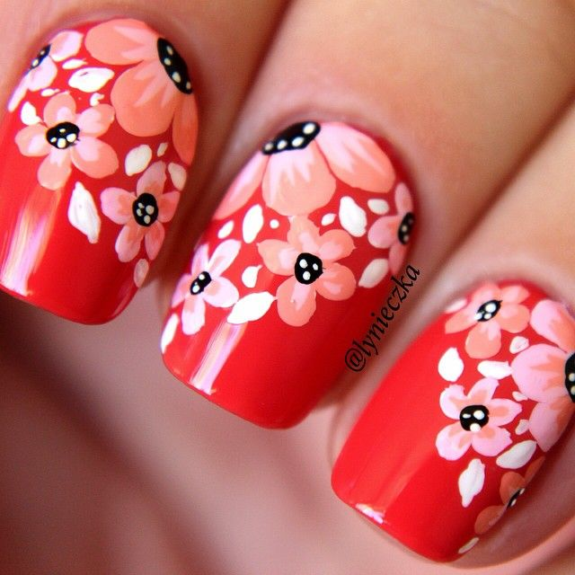 Beautiful floral nail art! #nail #nails #nailart