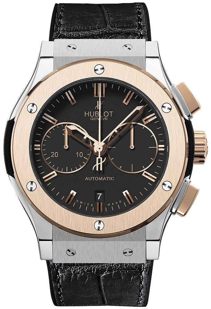 521.NO.1180.LR  HUBLOT CLASSIC FUSION CHRONOGRAPH  TITANIUM KING GOLD 45MM WATCH