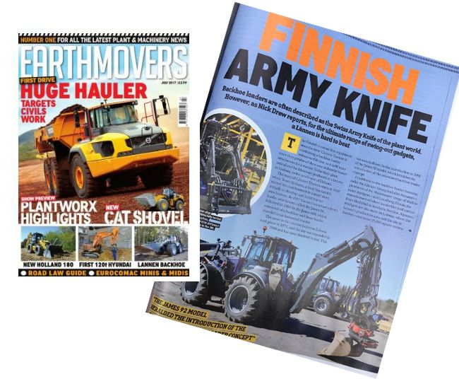 Earthmovers Magazine - Finnish army knife - Story about Lännen multifunction machines