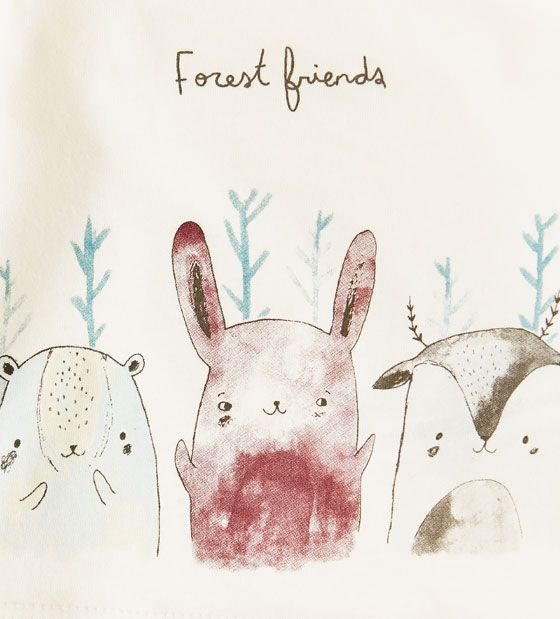 Image 4 of Forest friends top from Zara