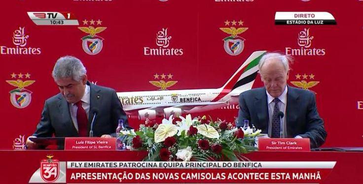 """Information Glorious no Twitter: """"Luís Filipe Vieira e Sir Tim Clark, presidentes do SL Benfica e da @Emirates, respectivamente. http://t.co/e7SlruUIea"""" ."""