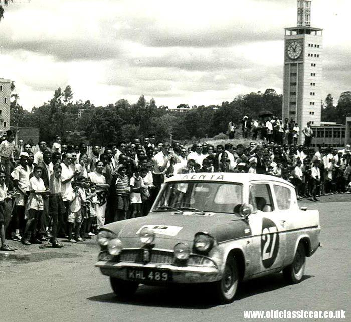 Ford 105E Rally car in Kenya