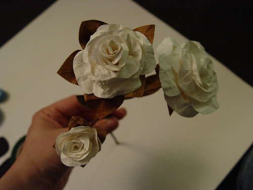 Simple Paper Flowers - crafted