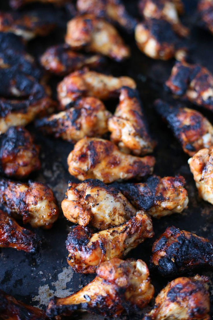 Chargrilled Chicken Wings - half the salt next time