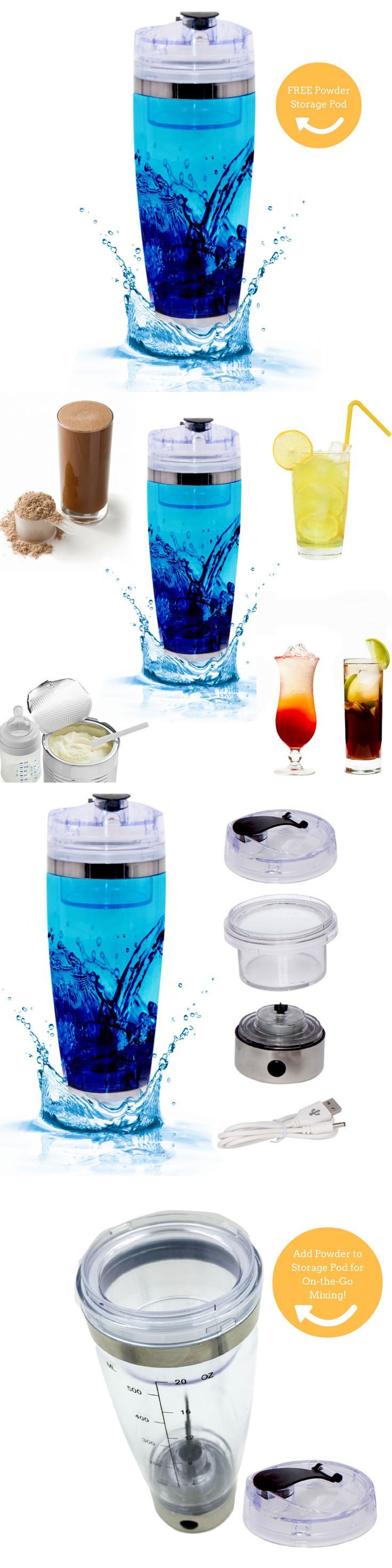 Bottle and Food Warmers 20404: New Usb Rechargeable Electric Shaker Blender Bottle Baby Formula Powder Mixer -> BUY IT NOW ONLY: $32.25 on eBay!
