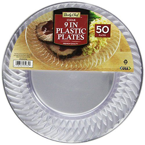 $19 Daily Chef Clear Plastic Plates, 9 Inch, 50 Count Daily Chef http://www.amazon.com/dp/B00MU3ZSXO/ref=cm_sw_r_pi_dp_LoUcwb101ZYXZ